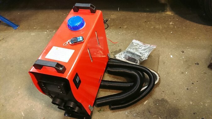 12V DIESEL HEATER 5 - 8 KW, SHIPPING TO YOUR ADRESS