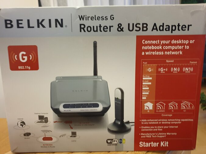 ROUTER & USB ADAPTER, BELKIN WIRELESS G 802.11