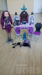 EVER AFTER HIGH RAVEN QUEEN VANITY DESK SET JA NUKK